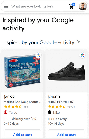 unpaid product listings