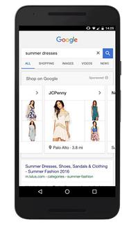 showcase shopping ad google