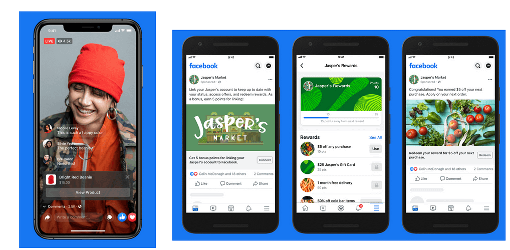 facebook shops live shopping and loyalty rewards