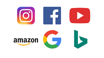 social media channels digital media strategy icons logos