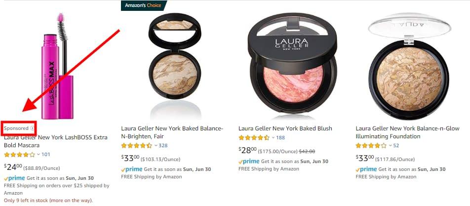laura geller sponsored ads amazon beauty