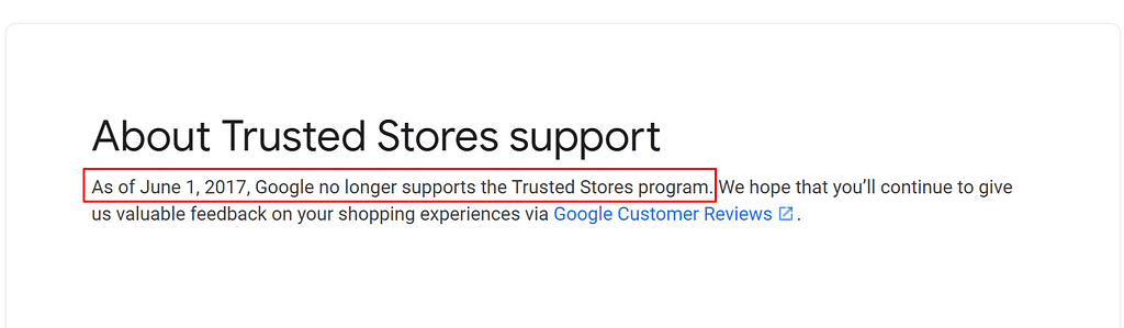 trusted stores shuts down