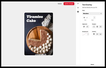 pin builder screenshot tiramisu cake