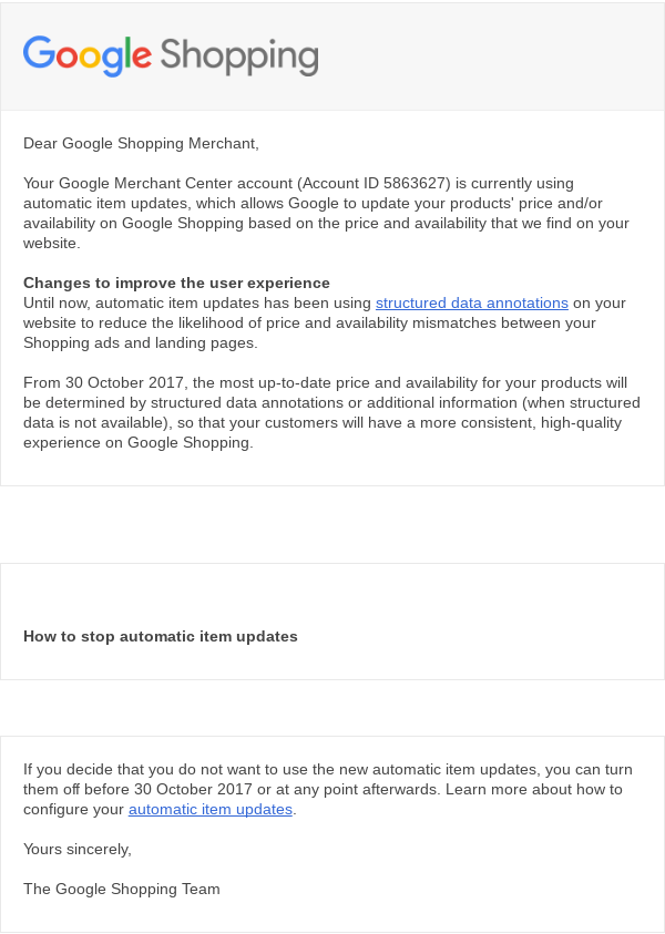 google-automatic-item-updates-opt-out-email