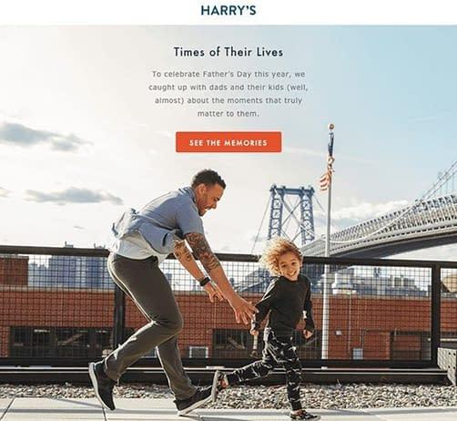 harrys fathers day marketing