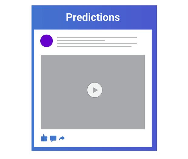 predição de fatores de algoritmo do facebook
