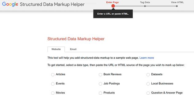 google schema helper for writing schema markup rich snippets