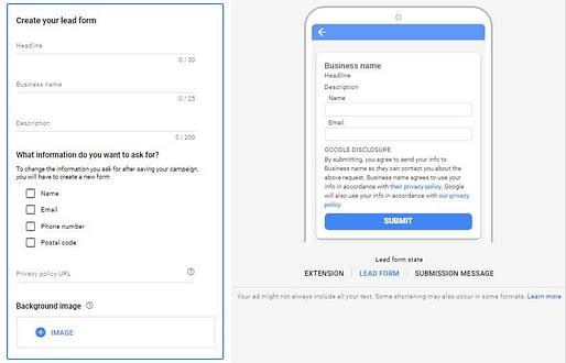google-ads-lead-extension-form