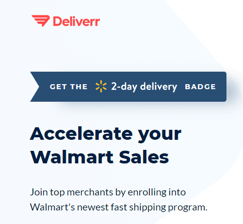 deliverr badge walmart 2 day shipping