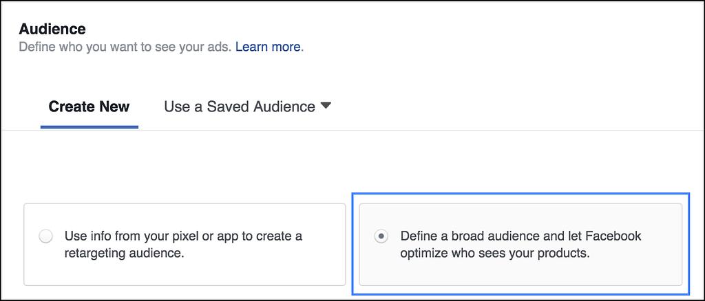 facebook broad audience targeting