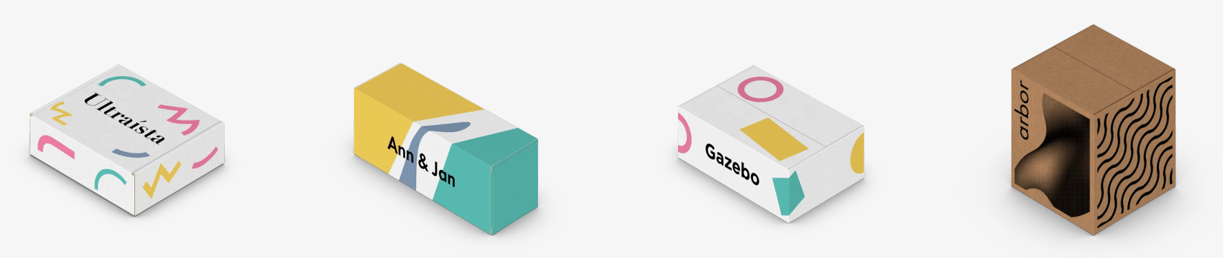 different packaging design styles
