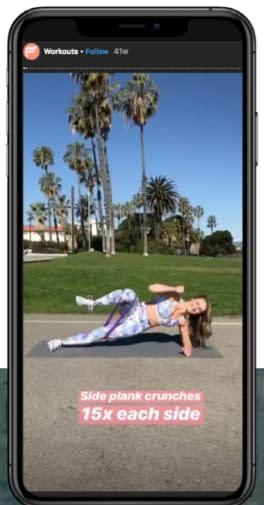 instagram story ad yoga