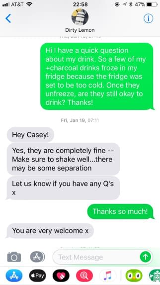 dirty lemon customer service