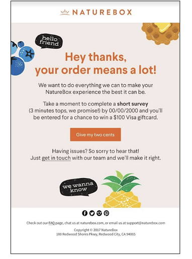 nature box email customer email survey