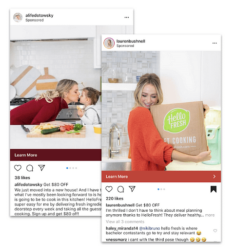 influencer ads on instagram