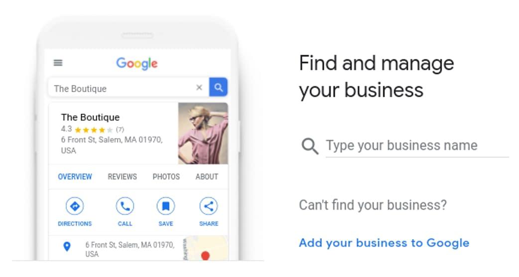 гугл мой бизнес сайт