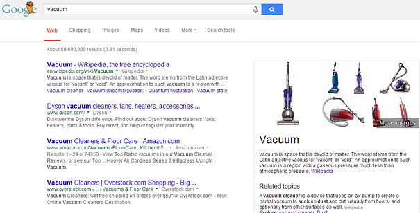 Google Shopping Knowledge Graph test