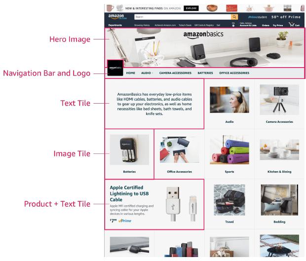 amazon store content setup
