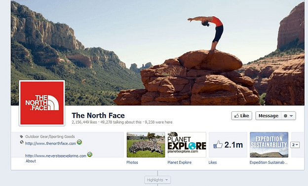 the north face facebook remarketing strategy