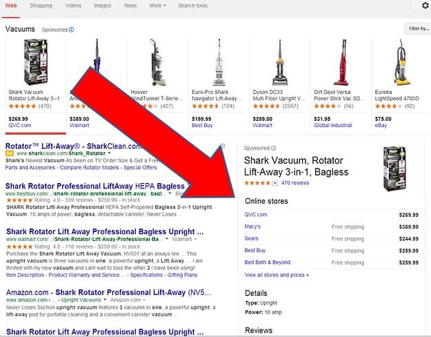 Google Shopping Product Carousel