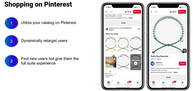example of pinterest shopping ads