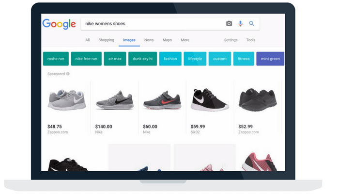 google shopping ads in image search
