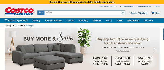 costco wholesale ecommerce