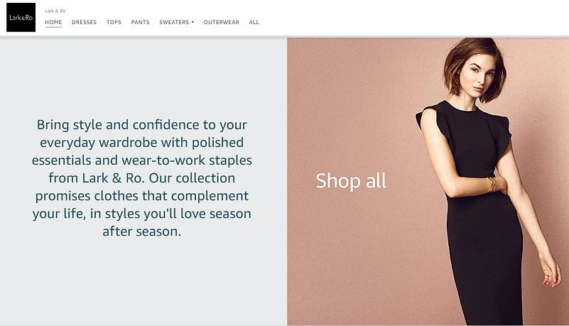 amazon apparel private label lark cro