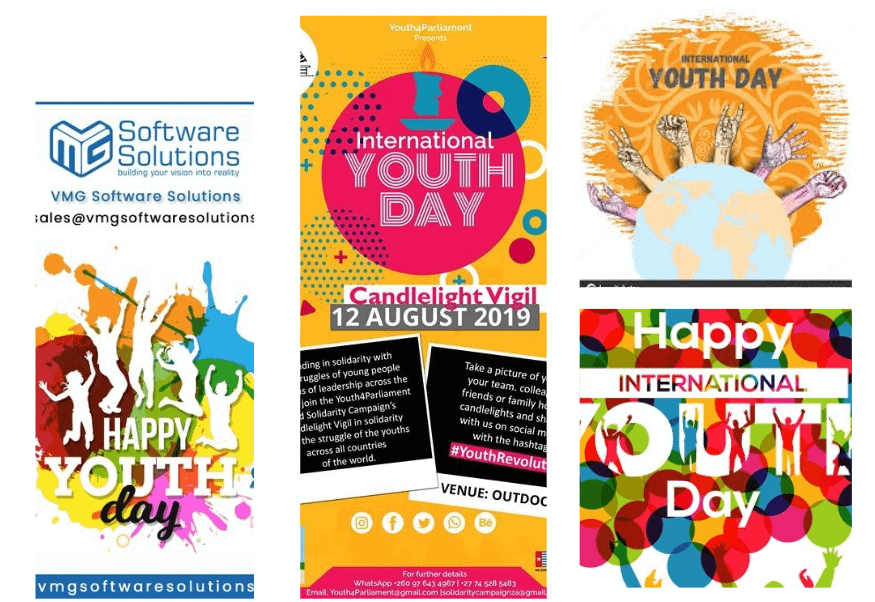 internationa youth day email promotions