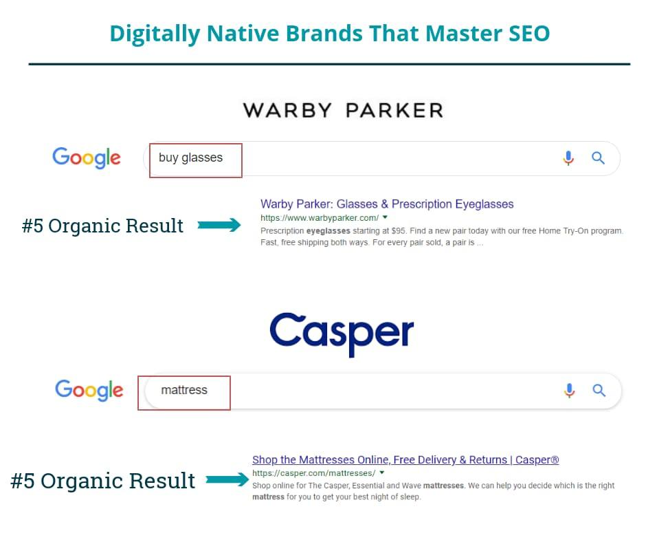 digitally native brands that master ecommerce seo warby parker casper
