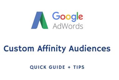 google custom affinity audiences