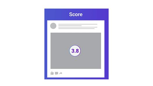 facebook algorithm factors score